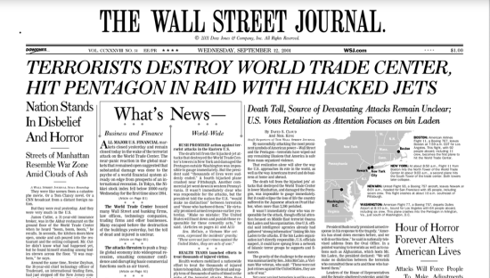 Wall Street Journal, 9-11-01